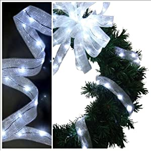 Click to buy Wedding Reception Decoration Ideas: Decorative White LED Ribbon Lights from Amazon!