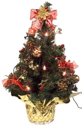 k nstlicher mini weihnachtsbaum geschm ckt und beleuchtet. Black Bedroom Furniture Sets. Home Design Ideas