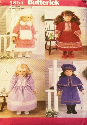 OOP Butterick Pattern 5864. Historical Clothing/clothes for 18
