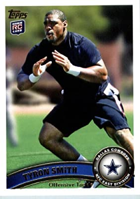 2011 Topps Football Card #69 Tyron Smith RC - Dallas Cowboys (RC - Rookie Card) NFL Trading Card