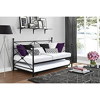 DHP Lubin Metal Daybed with Roll-out Trundle