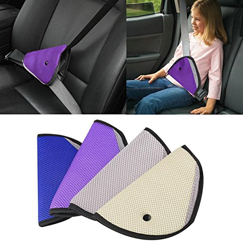 Beige Colour Child kids car seat belt safety adjustment cover cushion. Car Accessories