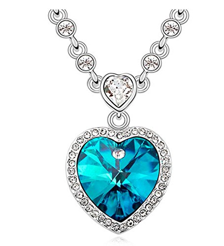 Gorgeous Jewelry Swarovski Austrian Crystal Deluxe Diamond Accented Necklace-In the Heart a Commitment