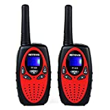 Retevis RT628 Kids Walkie Talkies 22 Channel FRS Toy Kids UHF 462.550- 467.7125MHz 2 Way Radio Toy(Red,2 Pack)