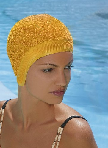 Fashy Hedgehog Style Swimming Hat Swim Cap Funky Greeen, Red, Blue, Black, Yellow, White