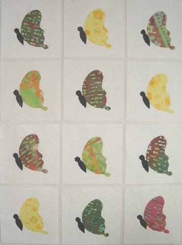 12 Applique Scrap Side View Butterfly Quilt Kit Blocks 6.5 Inch Squares