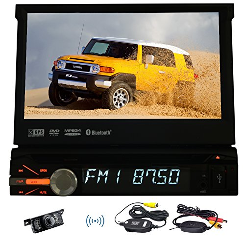 Vehicle Headunit Multimedia GPS Autoradio Electronics MP5 DVD Player In Deck Car Video Stereo single din LCD Screen logo iPod Remote control Aux Wireless Rear View Camera (Electronics In Cars compare prices)