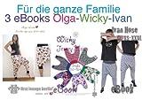 """Family """"Olga Wicky Ivan"""" Jersey-Pumphosen. Auf 1 CD mit 3 eBooks in einer PDF-Datei mit N�hanleitung und 3 Schnittmustern f�r Jerseyhosen, H�ngehosen"""
