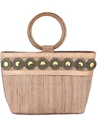 Sunbeams Ethnic Coin Bangle Hand-Held Bag (Gold)