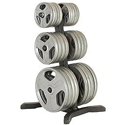 IRONMAN Triathlon X-Class Olympic Weight Tree/Bar Holder/Chrome Storage Post, 1000 lb