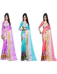 Fab Desire Present Set Of 3 Saree Combo