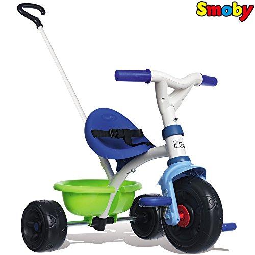 Dreirad mit Schubstange, Kippwanne, verstellbarem Sitz, Gurt    Kinder Baby Trike Kinderdreirad Schiebestange ab 15 Monaten