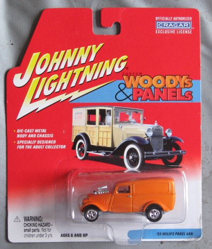Johnny Lightning Woodys & Panels '33 Willys Panel Van ORANGE