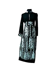Black And White Designer Party Wear Kurti With Intricate Work