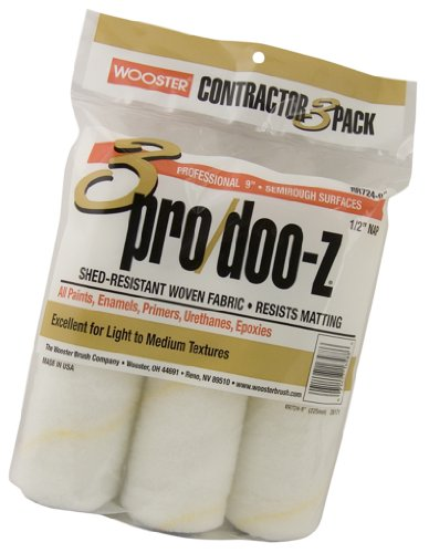 Wooster Brush RR724-9 Pro/Doo-Z Roller Cover 3 Pack 1/2-Inch, 9-Inch