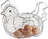 Kitchen Craft Chrome Plated Wire Large Chicken Basket 30cm x 25cm
