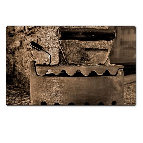 Old Retro Iron Antique Sepia Table Mats Customized Made To Order Support Ready 28 6/16 Inch (720Mm) X 17 11/16 Inch (450Mm) X 1/8 Inch (4Mm) High Quality Eco Friendly Cloth With Neoprene Rubber Msd Deskmat Desktop Mousepad Laptop Mousepads Comfortable Com front-629527