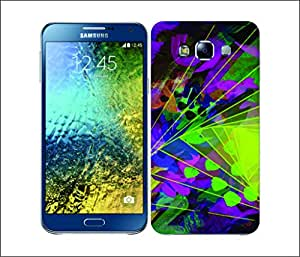 Galaxy Printed 2495 Neon Pattern Foldtr Hard Cover for Samsung GRAND 2