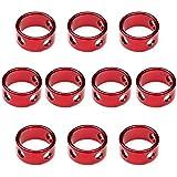 Ptatoms®10pcs Aluminum Tent Rings Cord Tensioners (Red Color)