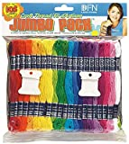 JUMBO Craft Thread Pack of 105 Skeins 29 Assorted Colours from Janlynn