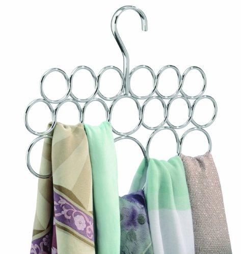 18 loop scarf belt tie closet organizer holder hanger for Scarves hanger ikea