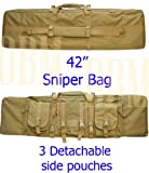 "42"" Molle Tactical Sniper Carrying Bag Rifle Gun Case Tan"