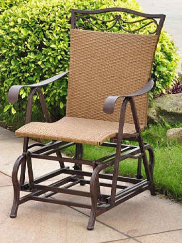 VALENCIA RESIN WICKER and STEEL PATIO PORCH GLIDER – PATIO FURNITURE