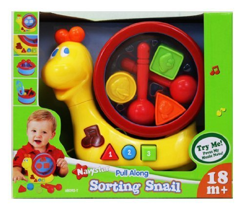 Pull Along - Sorting Snail - Learning Toy