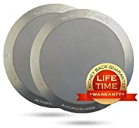 The MESH [2-Pack] : Premium Filter for AeroPress Coffee Makers by ALTURA + FREE eBOOK with Recipes, Tips, and More - Stainless Steel, Washable & Reusable. Lifetime 100% Guarantee