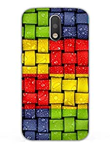 Moto G4 Plus Back Cover - Colorful Woven - Pattern - Designer Printed Hard Shell Case