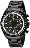 Timex Men's T2P103DH Intelligent Quartz Aviator Fly-Back Chronograph Black Dial, Black Ion-Plated Stainless Steel Bracelet Watch