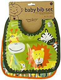 Sugarbooger Mini Bib Gift Set, It\'s a Jungle, 2 Count
