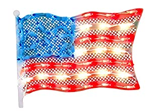 Impact Innovations Patriotic Lighted Window Decoration, Grand Old Flag by Impact Innovations