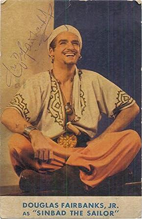 Signed Fairbanks, Douglas Jr. (Sinbad the Sailor) 3 1/2x5