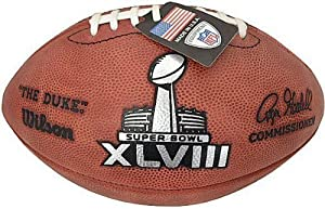 Wilson Super Bowl 48 (XLVIII) Official NFL Leather Game Football - with Team Names... by Creative+Sports