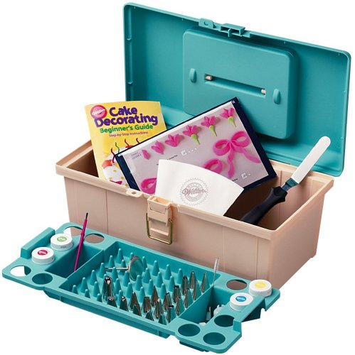Wilton Cake Decorating Bags Tips : Wilton 50 Piece Professional Cake Decorating Tool Caddy ...