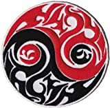 Yin Yangs Tribal PATCH Officially Licensed ORIGINAL Yin Yangs Artwork 35 x 35 Iron On Sew On EMBROIDERY Patch