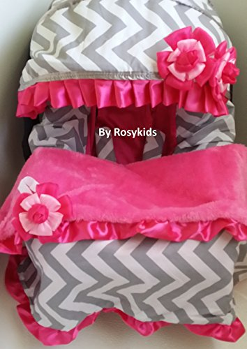 Infant Carseat Canopy Cover Blanket 4 Pc Whole Caboodle Baby Car Seat Cover Kit C030201