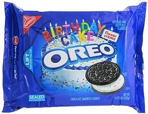 Oreo Chocolate Sandwich Cookies, Birthday Cake, 15.25 Ounce