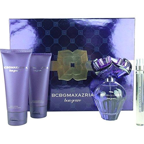 BCBG Maxazria Bon Genre for Women 4 Piece Set Includes: 3.4 oz Eau de Parfum Spray + 0.33 oz Eau de Parfum Spray + 3.0 oz Body Lotion + 3.0 oz Shower Gel by BCBGMAXAZRIA