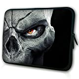 """WATERFLY Skull King 9"""" 9.7"""" 10"""" 10.1"""" Inch Laptop Notebook Netbook Tablet PC Sleeve Case Bag Pouch Cover for Apple iPad Air 5/4/3/2/1 ASUS VivoTab Smart 10.1"""" Asus MeMO Pad FHD 10 HP TC1100 and Most 9"""" 9.7"""" 10"""" 10.1"""" 10.2"""" Inch Laptop Netbook Tablets eBook Readers MID"""
