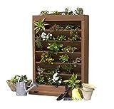 All Cedar Prestained 7-Level Wood Vertical Herb or Flower Garden w/ Storage