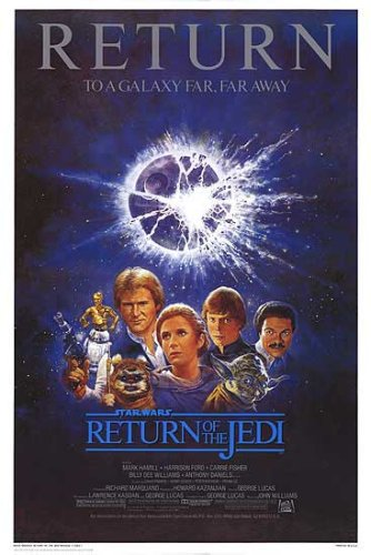 Return of the Jedi - 1985 Reissue Returns 27x40 Movie Poster Star Wars 0