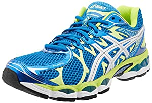 ASICS Men's Gel-Nimbus 16 Running Shoe,Island Blue/Lightning/Lime,10.5 M US