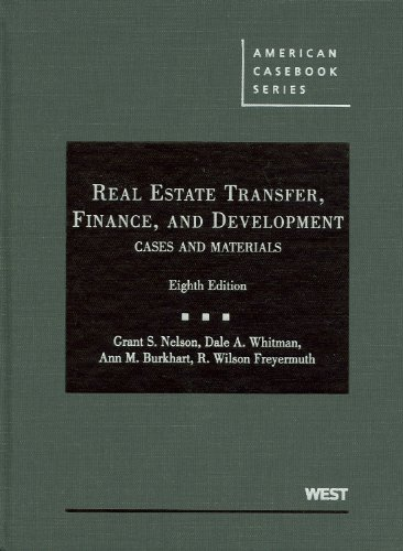 Real Estate Transfer, Finance, and Development (American...
