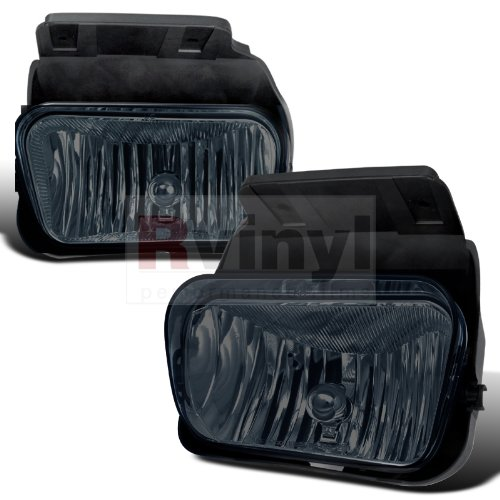 Spec-D Tuning OEM Style Fog Lights Chevrolet Silverado 2003 2004 2005 2006 - Smoke (2005 Chevy Silverado Fog Lights compare prices)