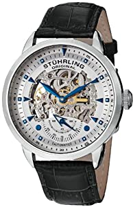 Stuhrling Original Men's 133.33152 Symphony Aristocrat Executive Automatic Skeleton Silver Dial Watch