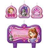 Sofia the First Birthday Cake Candles - 4ct
