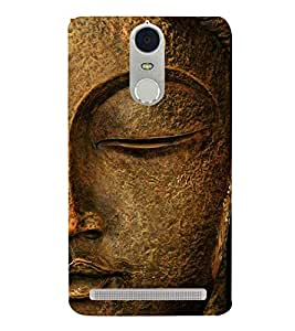 Buddha 3D Hard Polycarbonate Designer Back Case Cover for Lenovo K5 Note :: Lenovo Vibe K5 Note Pro