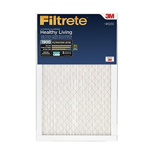 Filtrete Healthy Living Ultimate Allergen Reduction Filter, MPR 1900, 16 x 25 x 1-Inches, 2-Pack by Filtrete